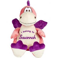 Personalised Dragon Cubbie Teddy - Pink